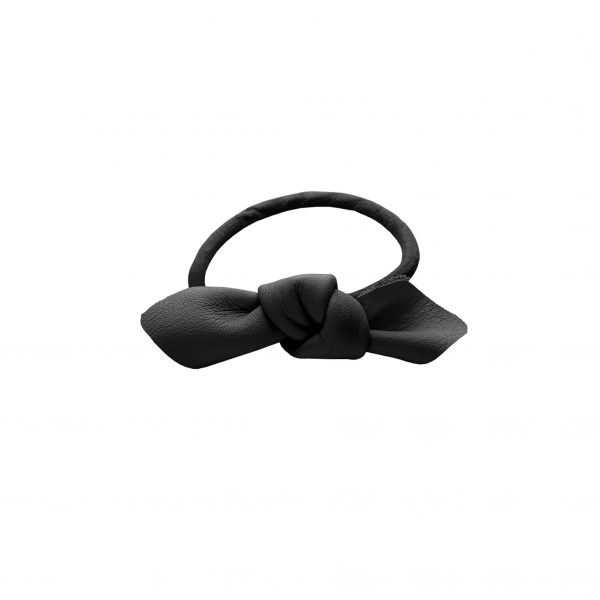 Corinne Leather Bow Small Sort